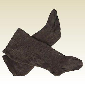 Dark brown bebe socks
