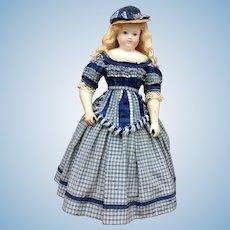 "Fantastic antique silk dress for 18"" poupee enfantine, Rohmer, Huret"