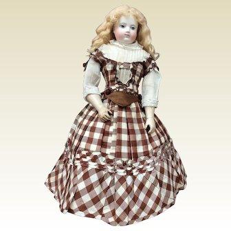 "Charming antique silk dress for poupee enfantine, Huret, Rohmer, 18"""