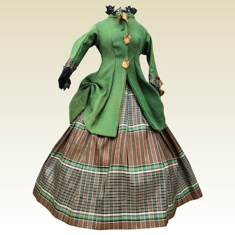 """Lovely two piece costume for 17/18"""" French fashion doll"""
