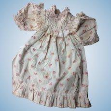Pink factory original dress for bebe Jumeau