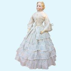 "Elegant OOAK Three piece costume for 22"" French fashion doll"