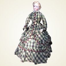 """Grand traveling costume for 22"""" French fashion doll"""