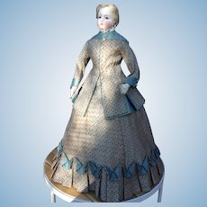"Beautiful two piece gown for 22"" French fashion doll"