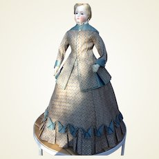 """Beautiful two piece gown for 22"""" French fashion doll"""