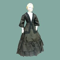 "Mourning costume for 22"" French fashion doll"