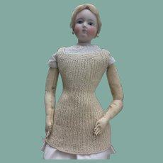 Rare knitted chemise for large French fashion doll