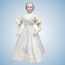 "Charming early dress for 22"" French fashion doll"