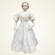 """Charming early dress for 22"""" French fashion doll"""