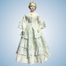 "Charming summer dress for 22"" French fashion doll"
