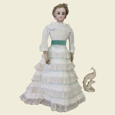 """Two piece Airy summer dress for 17 to 18"""" French fashion doll"""