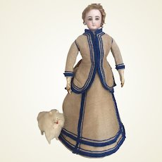 """Charming early dress for 17/18"""" French fashion doll"""