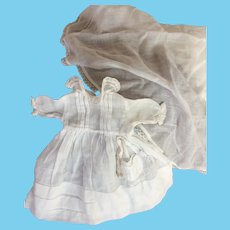 Vintage communion outfit for small bebe/ bleuette