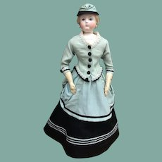 """Magnificent three piece costume for 20/21"""" French Fashion Doll"""