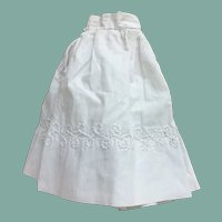 "Early white cotton skirt for 17"" French fashion"