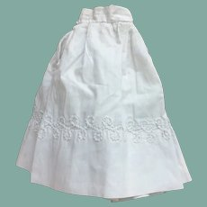 """Early white cotton skirt for 17"""" French fashion"""