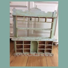 Antique display cabinet for fashion doll