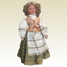 Charming old folklore doll