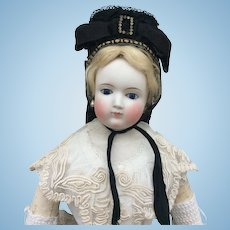 Stunning bonnet for large fashion doll
