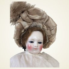 Perfect bonnet for early fashion doll or small bebe
