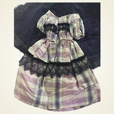 """Evening dress and cape for 13"""" fashion doll or China"""