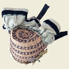 Rare early French Fashion or Pauline doll bonnet