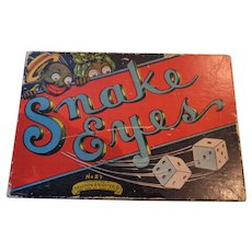 Selchow & Righter Co. #27 Snake Eyes Game - 1930's