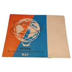 1964 New York World's Fair Pop Up Map