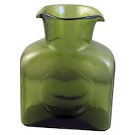 Blenko Green(Kiwi)  #384 Water Bottle-Decanter
