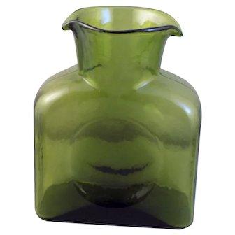 Blenko Green(Kiwi)  #384 Water Bottle-Decanter