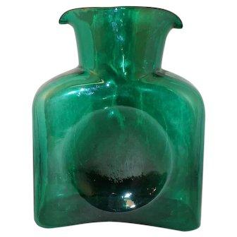 Blenko Emerald #384 Open Water Bottle-Decanter