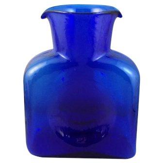 Blenko Cobalt #384 Open Water Bottle-Decanter