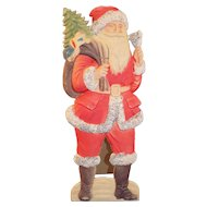 Vintage German Die Cut Stand Up Santa