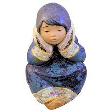 "Lladro ""Pensive Eskimo Girl"""