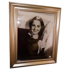 "14"" x 18"" Framed Olivia de Haviland as ""Melanie"" GWTW Autographed Photo COA"