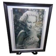 Autographed Photo of Virginia Mayo with COA