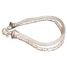 Indonesian-Balinese Sterling Silver Double Chain Bracelet
