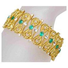 Camrose & Kross Jacqueline Kennedy JBK Simulated Emerald Bracelet.