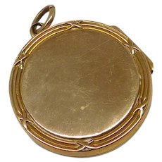 Antique 9K Gold Victorian Pocket Watch Locket Fob Charm