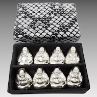 **LAST CALL** Vintage Set of 8 Solid Sterling Silver Buddha Place Card Holders ON SALE!