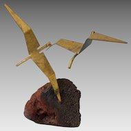 ** LAST CALL** Vintage Mid Century Modern Brutalist Bird Sculpture Statue