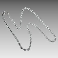 "Italian Sterling Silver 15 3/4"" Long 4.1mm Wide Anchor Link Necklace Chain"