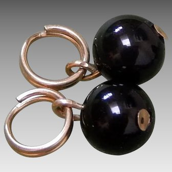 *Last Call* 14K Solid Gold & Onyx Earring Enhancer Charms