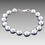 Sterling Silver Substantial Ball Link Statement Bracelet