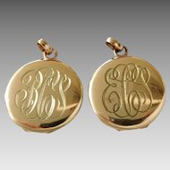 Pair of Antique Edwardian Gold Filled Matched Lockets
