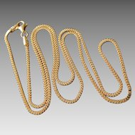 Italian Gold Overlay Sterling Silver 1.5mm Box Chain Necklace 21 1/2""