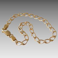 Estate 9K Yellow Gold Curb Link Bracelet