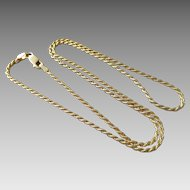 "Italian Gold Overlay Sterling Silver 1.5mm 18"" Rope Chain Necklace"