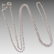 "Sterling Silver 16"" 1mm Rolo Chain Necklace"