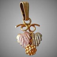 Vintage 10K Gold & 12K Black Hills Gold Necklace Pendant